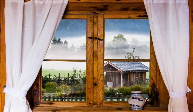 Okna i stylizacje rustykalne